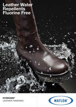 Leather water repellents fuorine free
